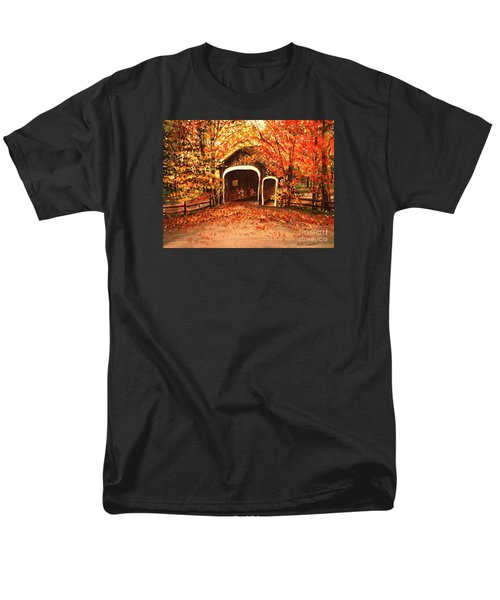 Men's T-Shirt  (Regular Fit) featuring the painting Autumn Bike Ride by Patricia L Davidson