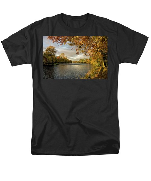 Autumn By The River Ness Men's T-Shirt  (Regular Fit) by Jacqi Elmslie