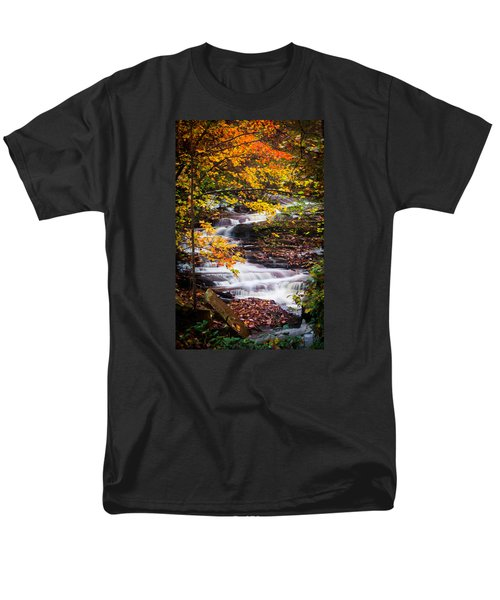Autumn Cascade  Men's T-Shirt  (Regular Fit) by Parker Cunningham