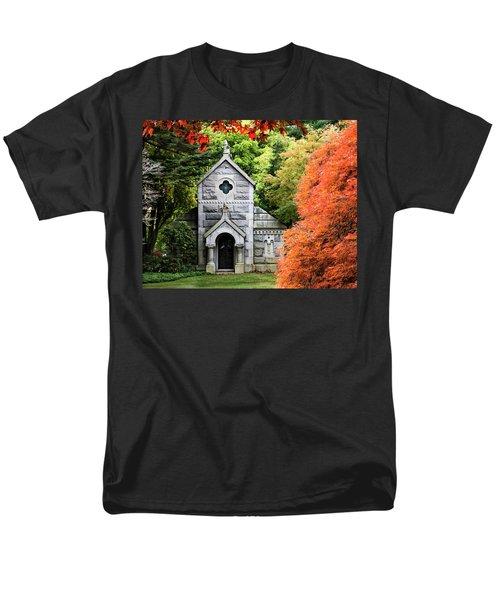 Autumn Chapel Men's T-Shirt  (Regular Fit) by Betty Denise