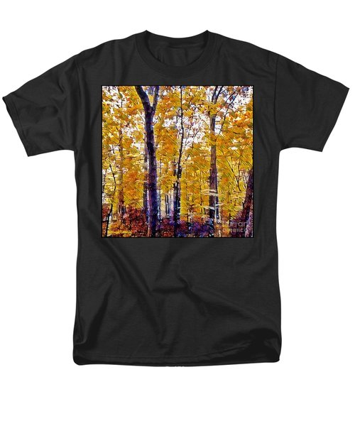 Autumn  Day In The Woods Men's T-Shirt  (Regular Fit) by MaryLee Parker