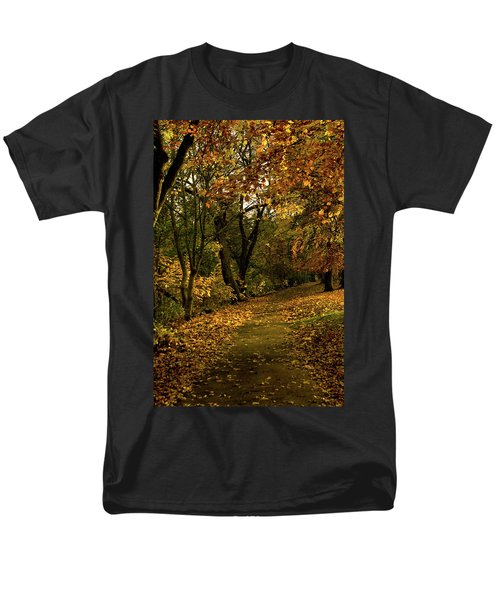 Autumn / Fall By The River Ness Men's T-Shirt  (Regular Fit) by Jacqi Elmslie