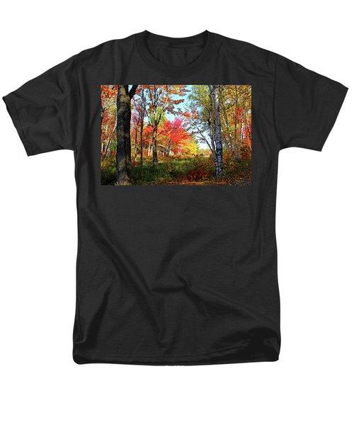 Men's T-Shirt  (Regular Fit) featuring the photograph Autumn Forest by Debbie Oppermann