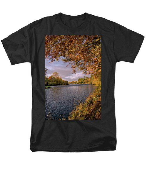Autumn Light By The River Ness Men's T-Shirt  (Regular Fit) by Jacqi Elmslie