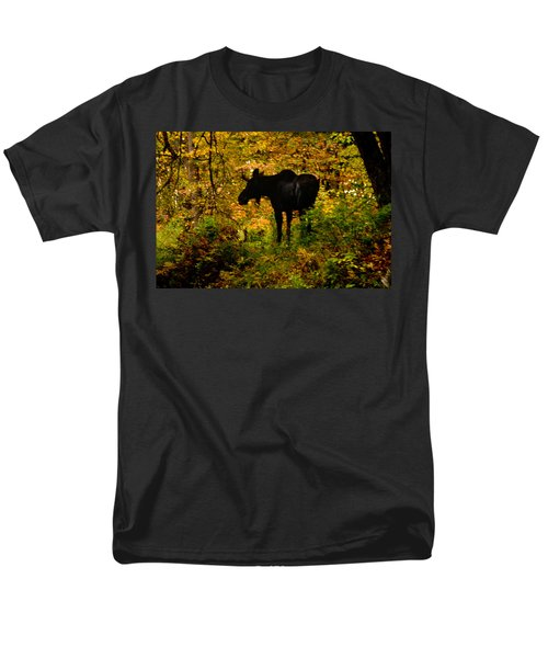Autumn Moose Men's T-Shirt  (Regular Fit) by Brent L Ander