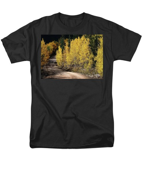 Men's T-Shirt  (Regular Fit) featuring the photograph Autumn Road by Jim Hill