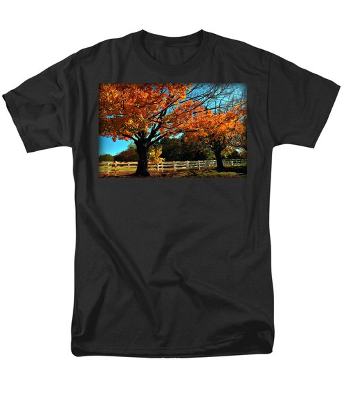 Men's T-Shirt  (Regular Fit) featuring the photograph Autumn Rows by Joan  Minchak