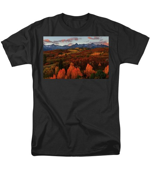 Men's T-Shirt  (Regular Fit) featuring the photograph Autumn Sunrise At Dallas Divide In Colorado by Jetson Nguyen