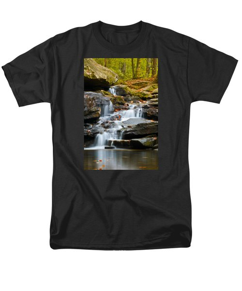 Autumn Waterfall Men's T-Shirt  (Regular Fit) by Shelby  Young