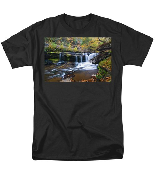 Men's T-Shirt  (Regular Fit) featuring the photograph Autumn Waterfall by Steve Stuller
