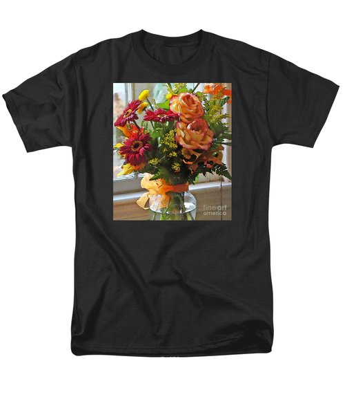 Men's T-Shirt  (Regular Fit) featuring the photograph Autumn Window by Betsy Zimmerli