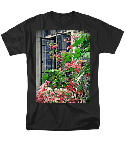 Azaleas At The Window   Men's T-Shirt  (Regular Fit) by Sarah Loft