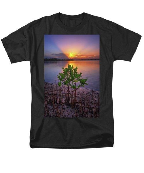 Baby Mangrove Sunset At Indian River State Park Men's T-Shirt  (Regular Fit) by Justin Kelefas