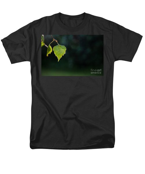Men's T-Shirt  (Regular Fit) featuring the photograph Backlit Shiny Leaf by Kennerth and Birgitta Kullman