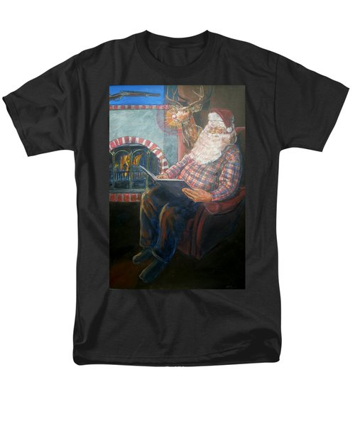 Men's T-Shirt  (Regular Fit) featuring the painting Bad Rudolph by Bryan Bustard