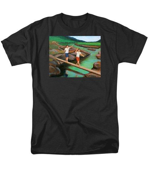 Balancing Life Through A Straight And Narrow Path Men's T-Shirt  (Regular Fit) by Cyril Maza