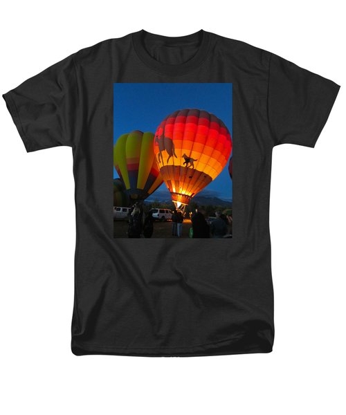 Men's T-Shirt  (Regular Fit) featuring the photograph Balloon Glow by Brenda Pressnall