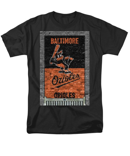 Baltimore Orioles Brick Wall Men's T-Shirt  (Regular Fit) by Joe Hamilton