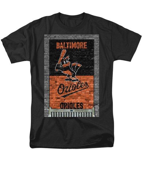 Baltimore Orioles Brick Wall Men's T-Shirt  (Regular Fit)