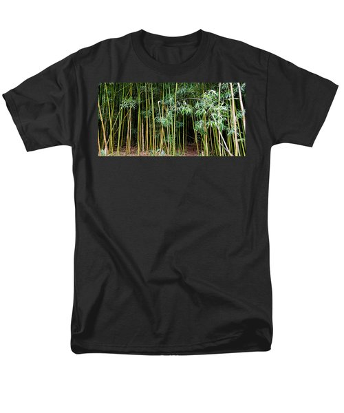 Bamboo Wind Chimes  Waimoku Falls Trail  Hana  Maui Hawaii Men's T-Shirt  (Regular Fit) by Michael Bessler