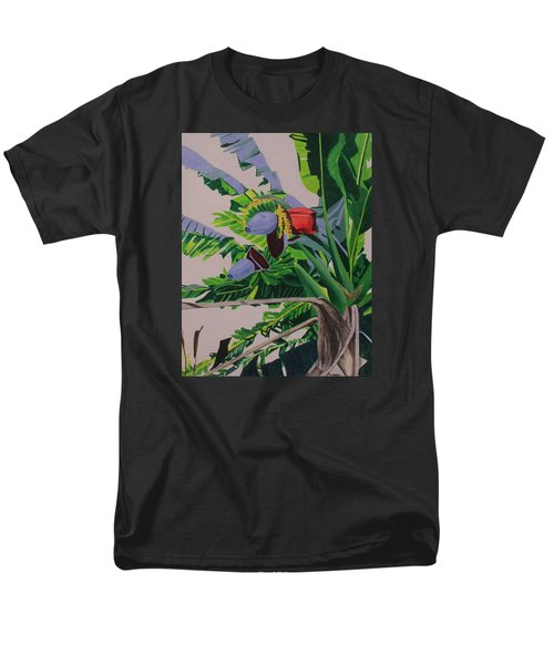 Men's T-Shirt  (Regular Fit) featuring the painting Bananas by Hilda and Jose Garrancho