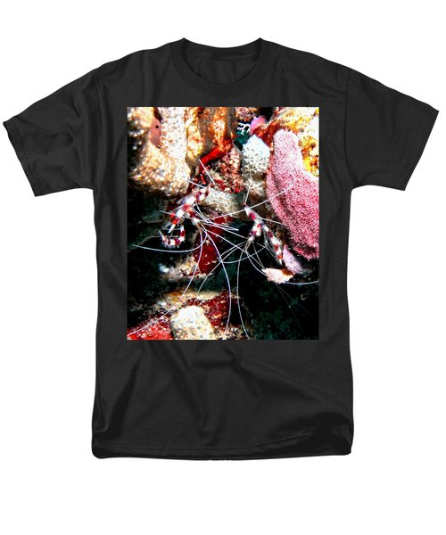 Banded Coral Shrimp - Caught In The Act Men's T-Shirt  (Regular Fit) by Amy McDaniel