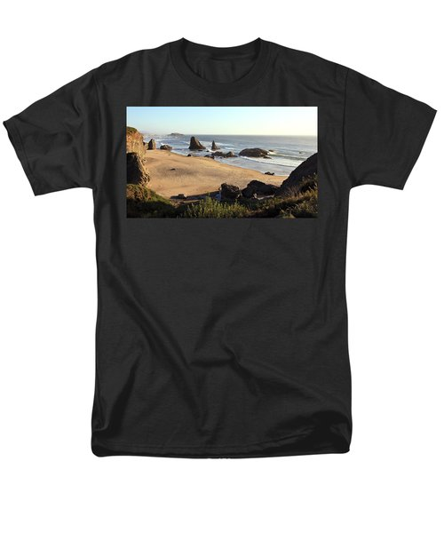 Bandon Beachfront Men's T-Shirt  (Regular Fit) by Athena Mckinzie