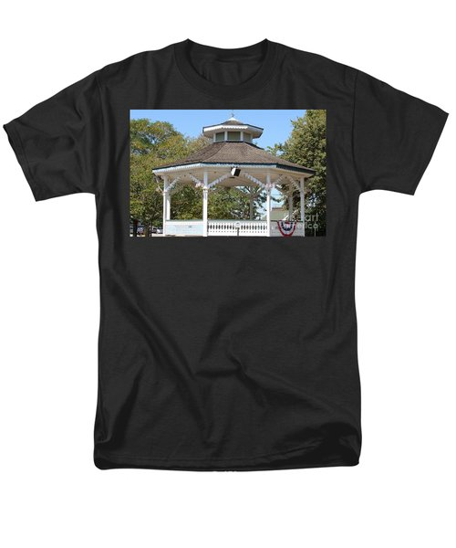 Men's T-Shirt  (Regular Fit) featuring the painting Bandshell In Plymouth, Mass by Rod Jellison