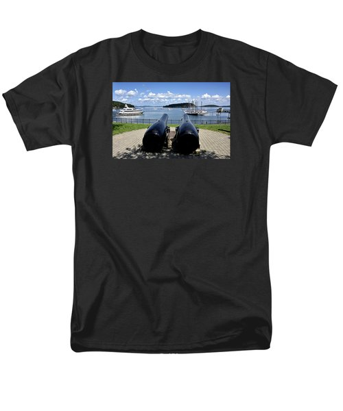 Bar Harbor - Maine - Canons At Agamont Park Men's T-Shirt  (Regular Fit) by Brendan Reals