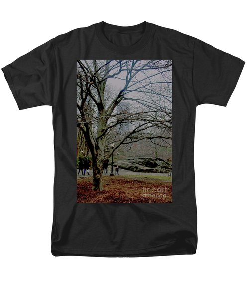 Bare Tree On Walking Path Men's T-Shirt  (Regular Fit) by Sandy Moulder