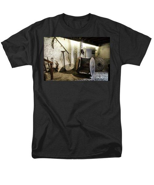 Men's T-Shirt  (Regular Fit) featuring the photograph Barley Warehouse At Lockes Distillery by RicardMN Photography