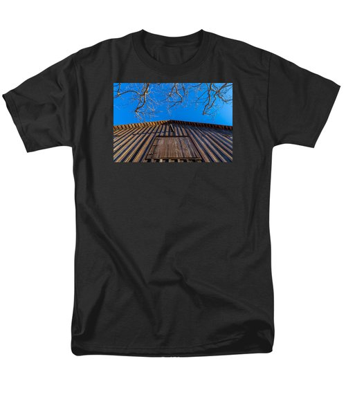 Barn And Trees Men's T-Shirt  (Regular Fit) by Derek Dean