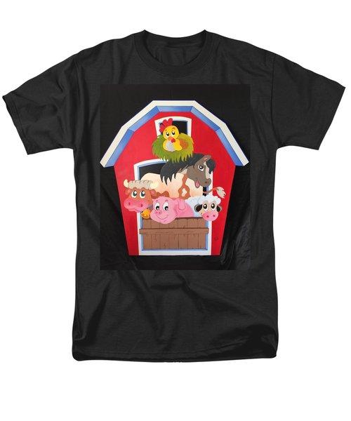 Barn With Animals Men's T-Shirt  (Regular Fit)