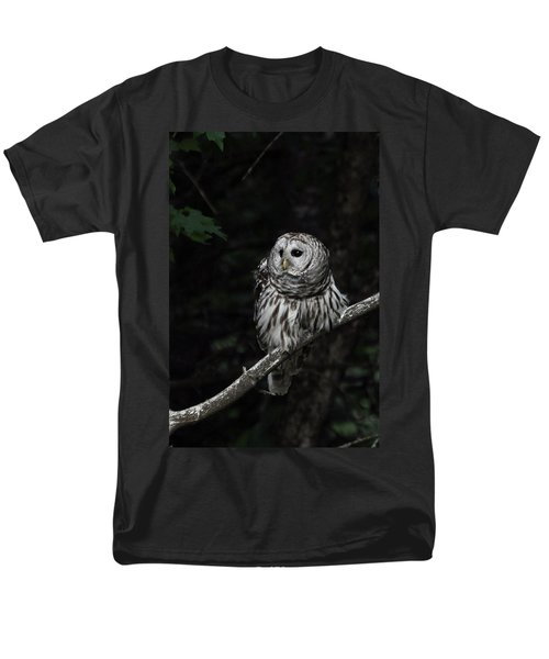 Men's T-Shirt  (Regular Fit) featuring the photograph Barred Owl 2 by Glenn Gordon
