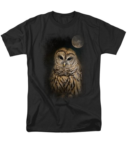 Barred Owl And The Moon Men's T-Shirt  (Regular Fit) by Jai Johnson