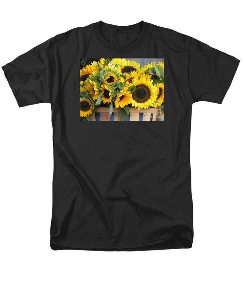 Basket Of Sunflowers Men's T-Shirt  (Regular Fit)