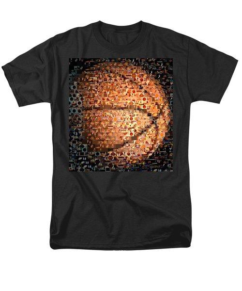 Basketball Mosaic Men's T-Shirt  (Regular Fit) by Paul Van Scott