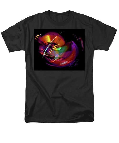 Men's T-Shirt  (Regular Fit) featuring the painting International Bass Station by DC Langer