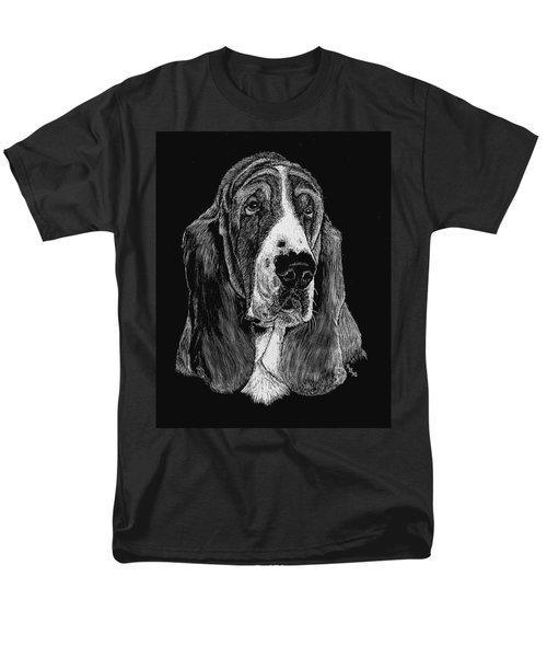 Men's T-Shirt  (Regular Fit) featuring the drawing Basset Hound by Rachel Hames