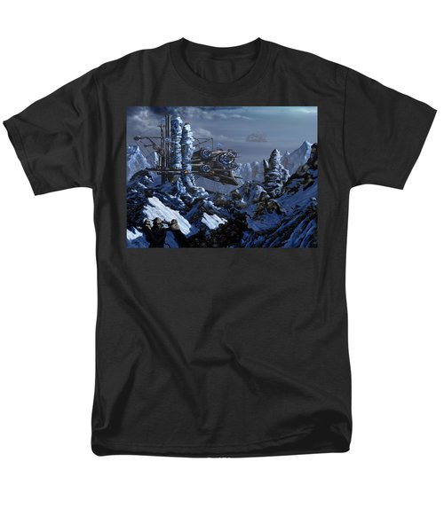 Men's T-Shirt  (Regular Fit) featuring the digital art Battle Of Eagle's Peak by Curtiss Shaffer