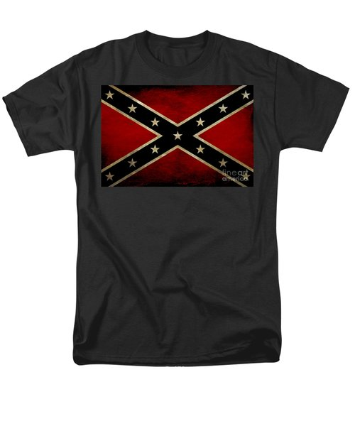 Battle Scarred Confederate Flag Men's T-Shirt  (Regular Fit) by Randy Steele