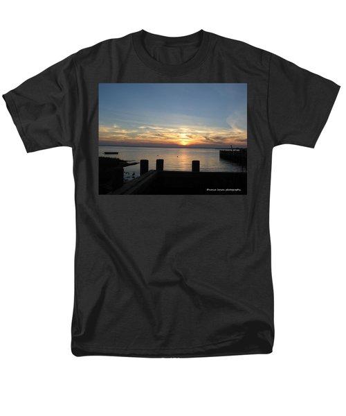 Bay Sunset Men's T-Shirt  (Regular Fit) by Nance Larson