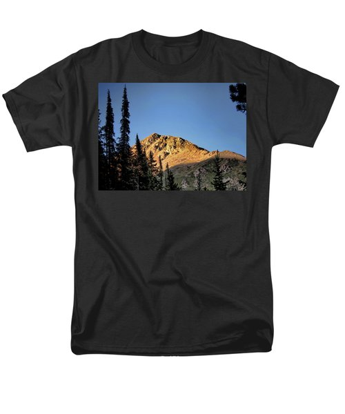 Men's T-Shirt  (Regular Fit) featuring the photograph Be Still Like A Mountain ... by Jim Hill