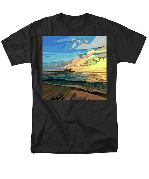 Beach Men's T-Shirt  (Regular Fit) by Bekim Art