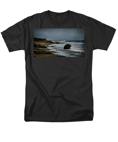 Men's T-Shirt  (Regular Fit) featuring the photograph Beach Boulder by Joseph Hollingsworth