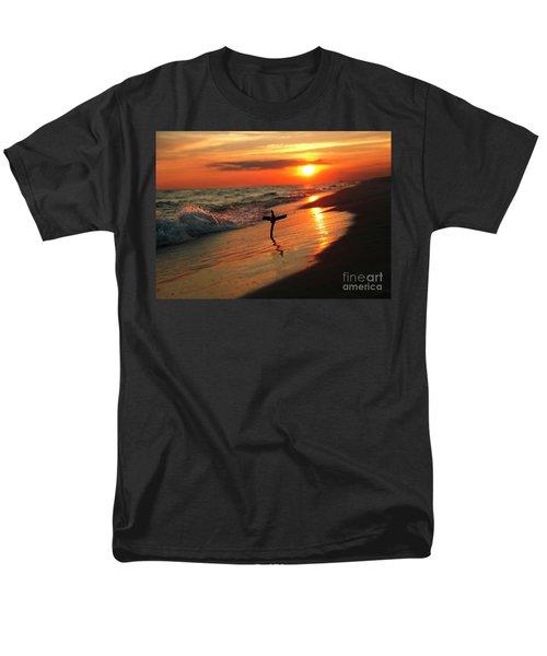 Beach Sunset And Cross Men's T-Shirt  (Regular Fit) by Luana K Perez