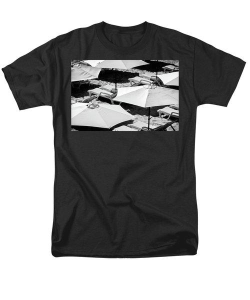 Men's T-Shirt  (Regular Fit) featuring the photograph Beach Umbrellas by Marion McCristall