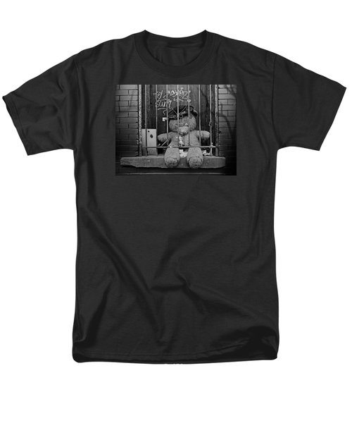 Men's T-Shirt  (Regular Fit) featuring the photograph Bear Behind Bars by Nina Bradica