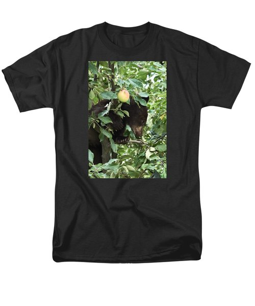 Bear Cub In Apple Tree5 Men's T-Shirt  (Regular Fit) by Loni Collins