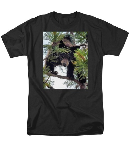 Bear Cub Playing In A Tree 2 Men's T-Shirt  (Regular Fit)